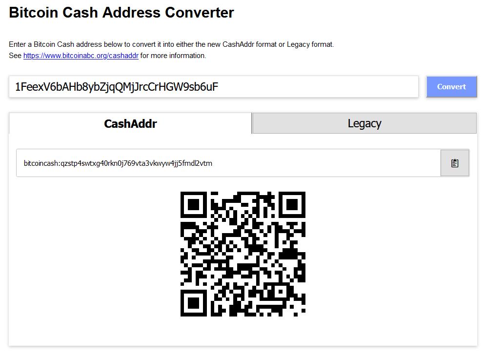 bitcoin cash address converter