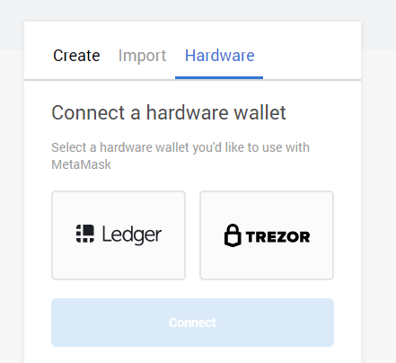 connect hardware wallet