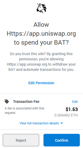 defi wallet permission