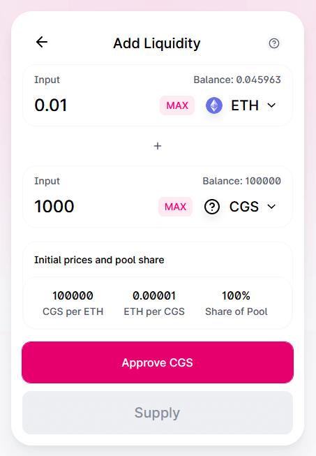 add token uniswap