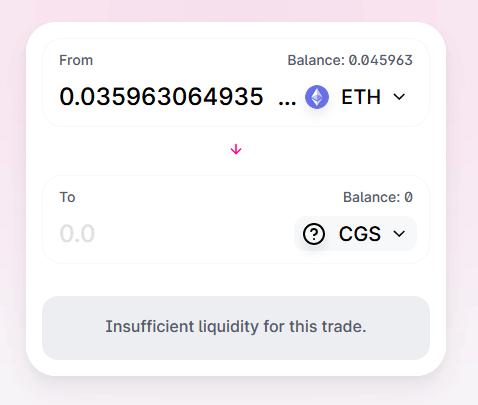 token not added