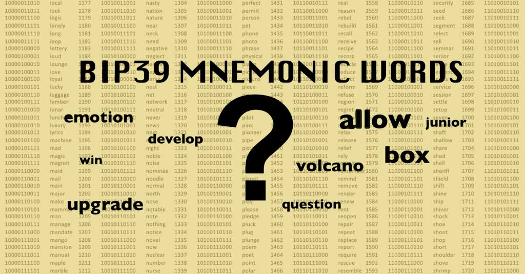custom mnemonic seed