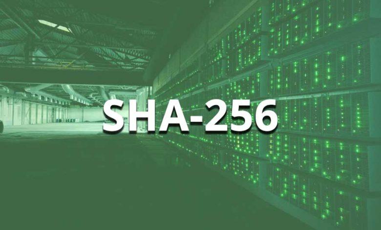 sha-256 algorithm coins