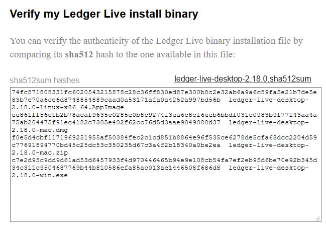 verify ledger live binary