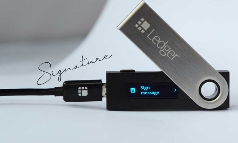 ledger sign message
