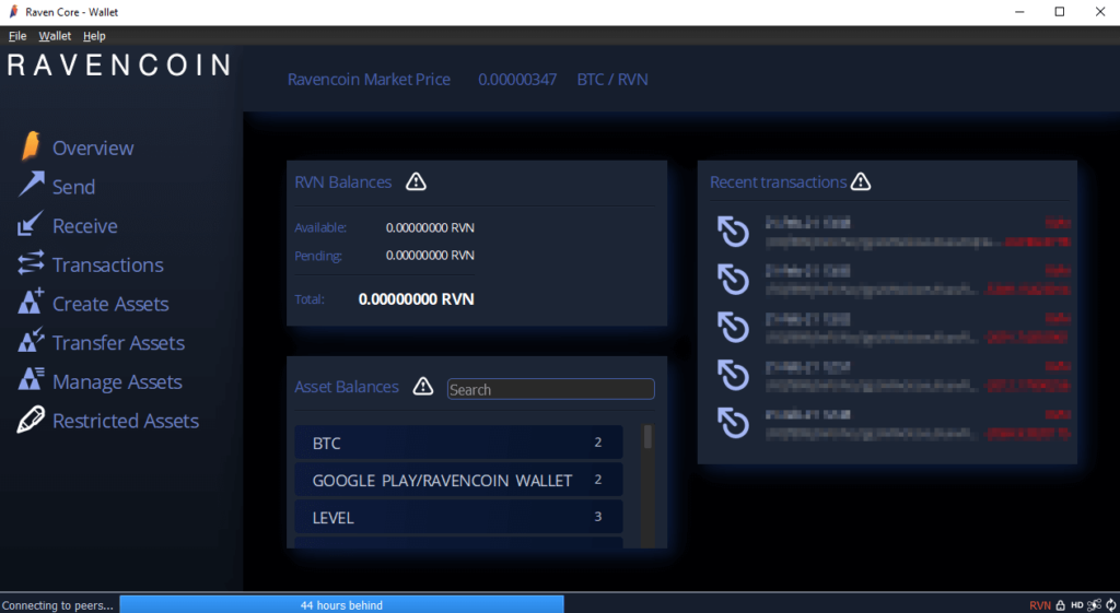 raven core wallet