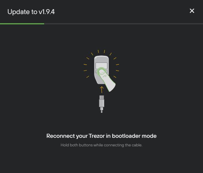 trezor bootloader mode