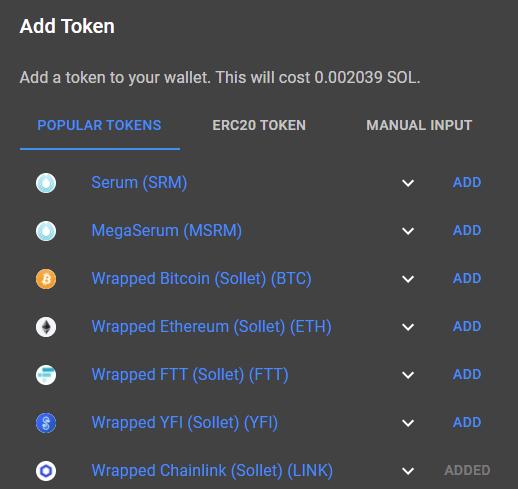 popular tokens