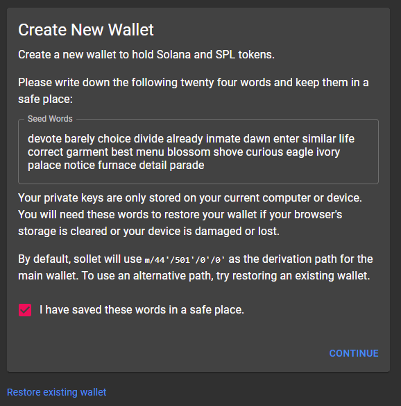 sollet new wallet