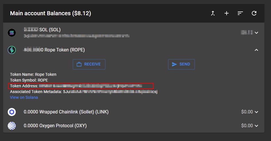 token address spl