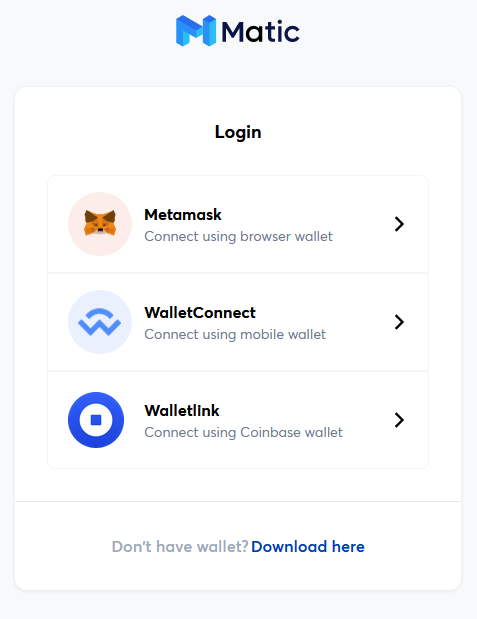 matic wallet connect