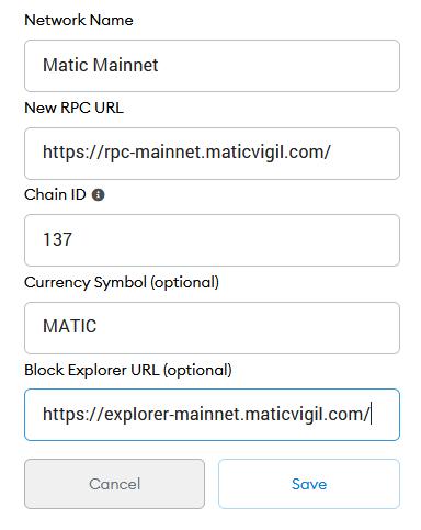 metamask matic rpc mainnet
