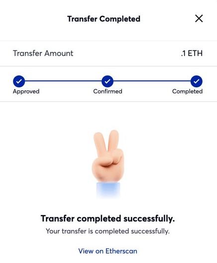 polygon token transfer complete