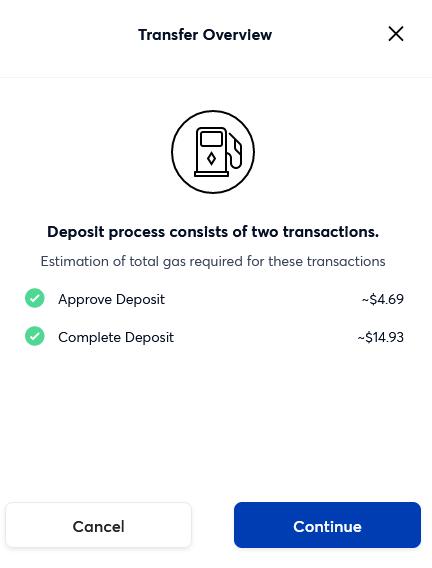 token transfer gas fees