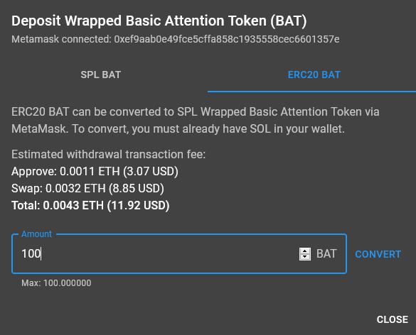 swap tokens spl