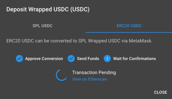confirm token swap