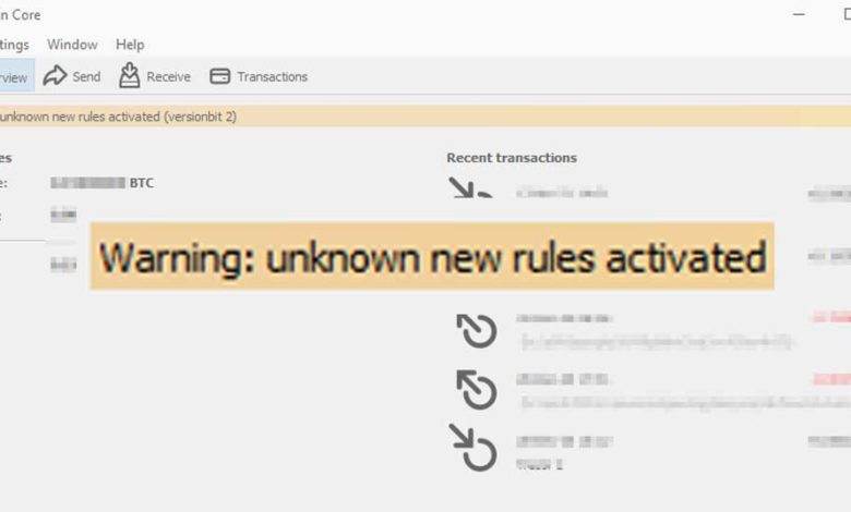 bitcoin unknown rules