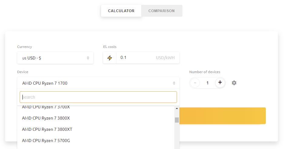 cpu profit calculator