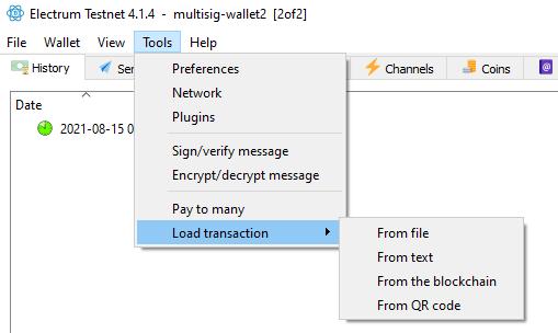 load multisig transaction