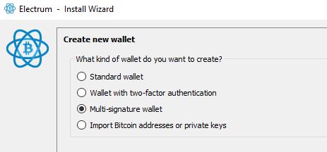 multi signature wallet wizard