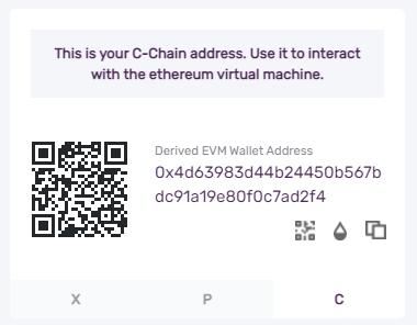 avalanche c chain address