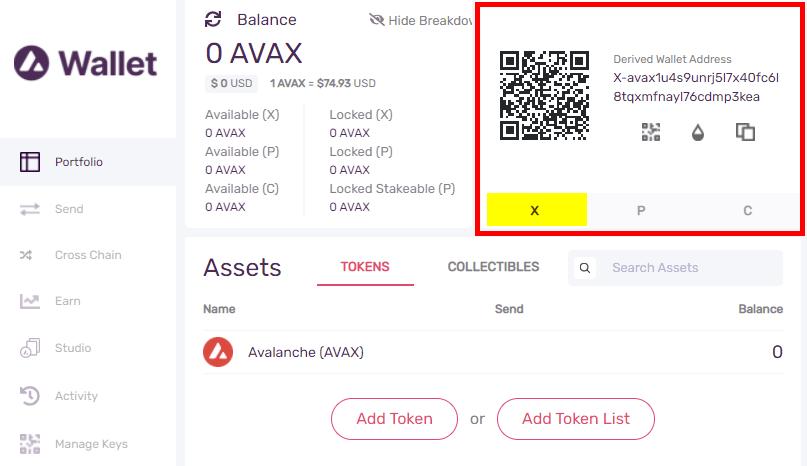 avax wallet address