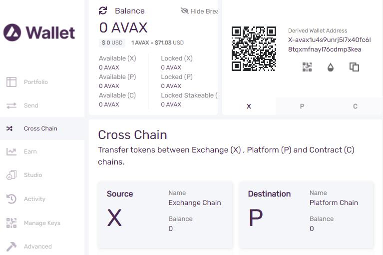 avalanche cross chain transfer