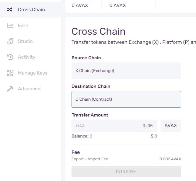 cross chain avax