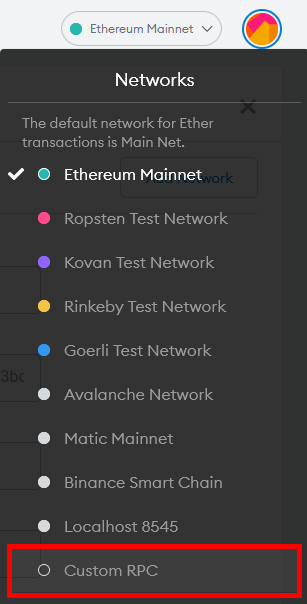 custom rpc network