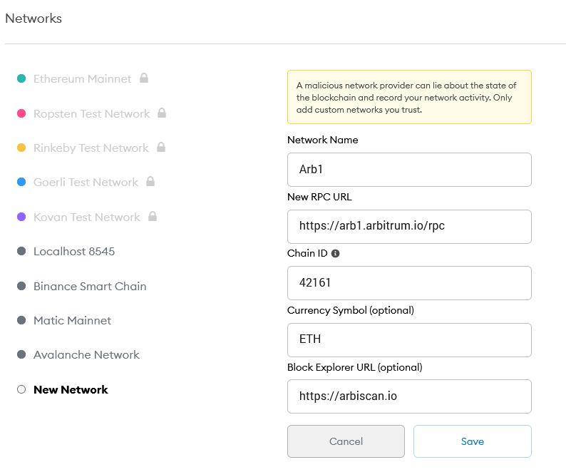 arbitrum one network